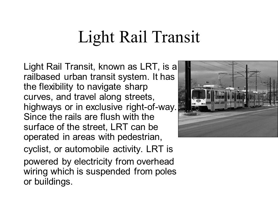 URBAN MASS TRANSIT SYSTEM - ppt download