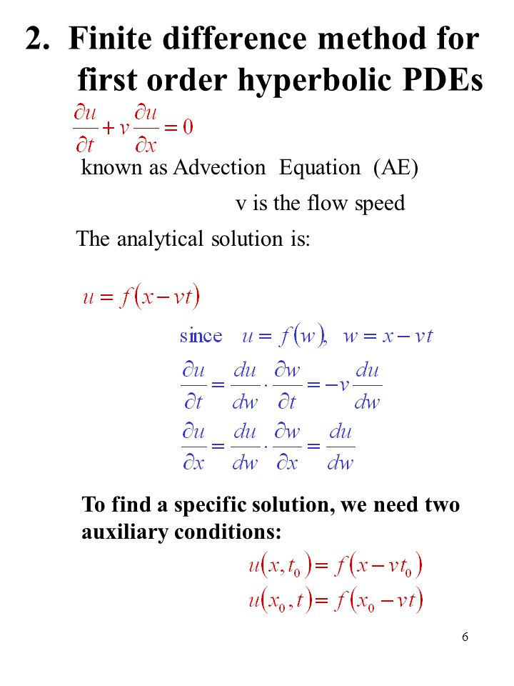 Numerical Methods for Partial Differential Equations - ppt
