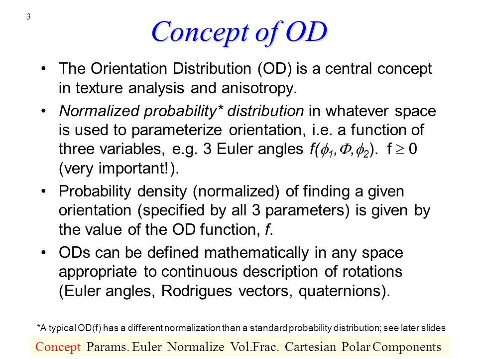 L6 The Orientation Distribution Definition Discrete Forms