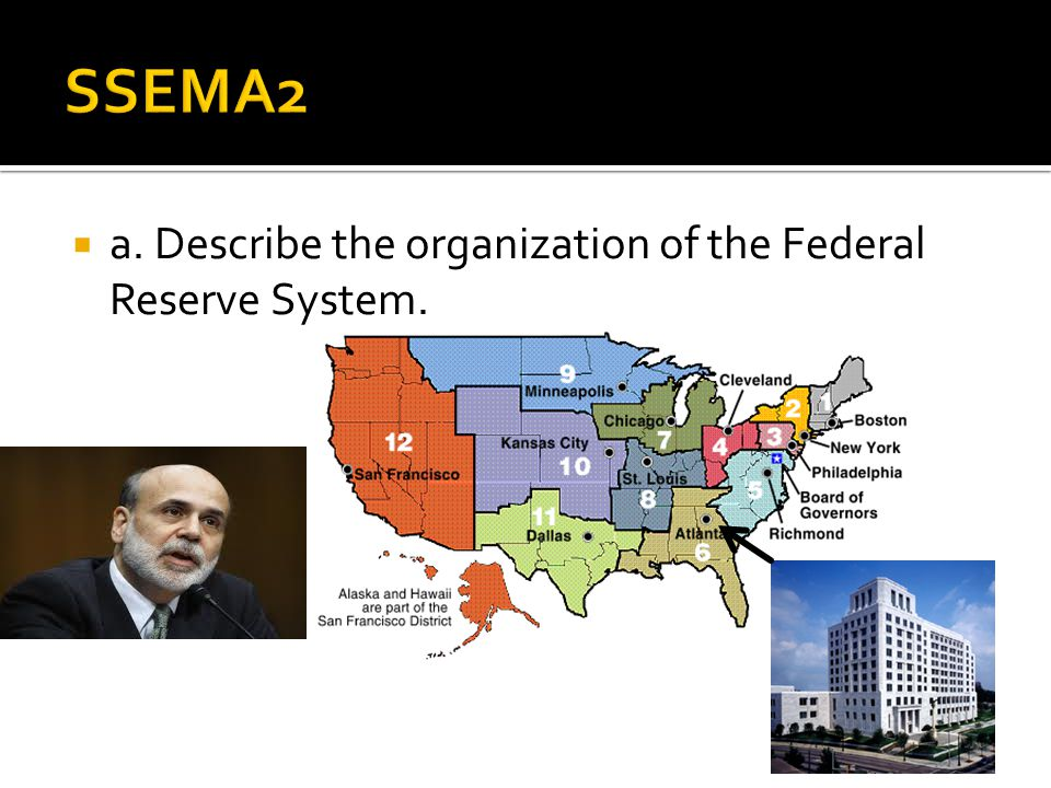 SSEMA2 a. Describe the organization of the Federal Reserve System.