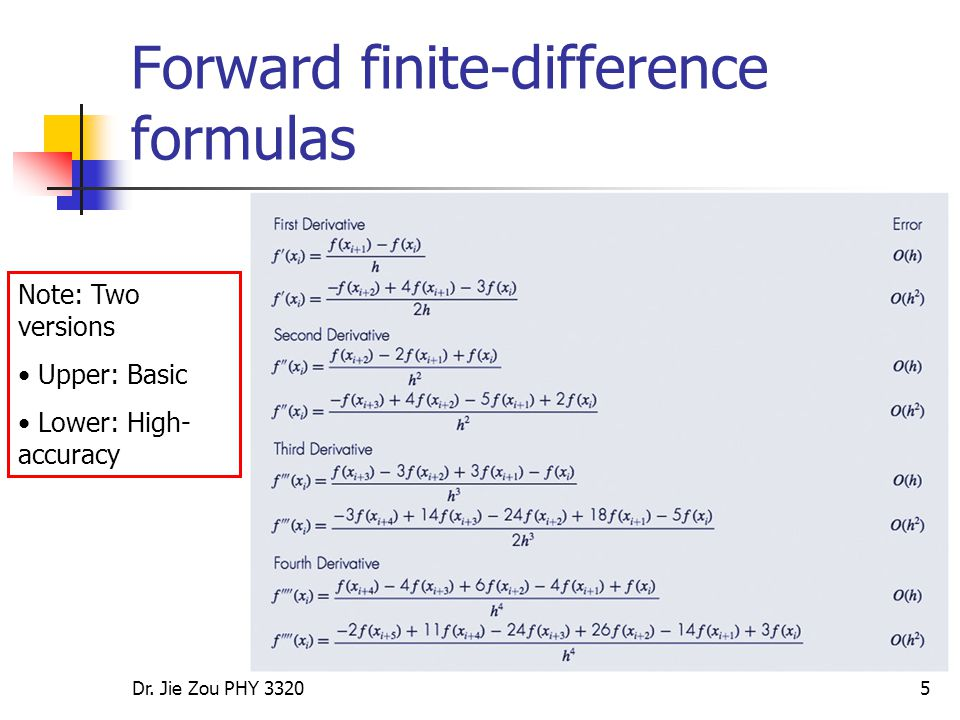 Numerical Differentiation:1* Lecture (II) - ppt video online