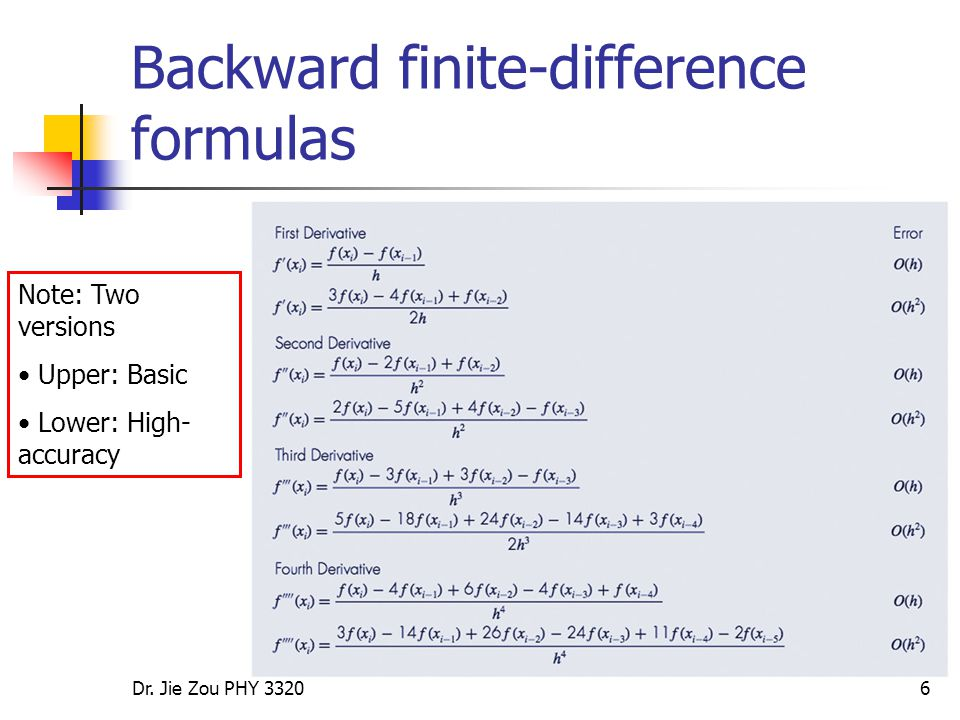 Numerical Differentiation:1* Lecture (II) - ppt video online download