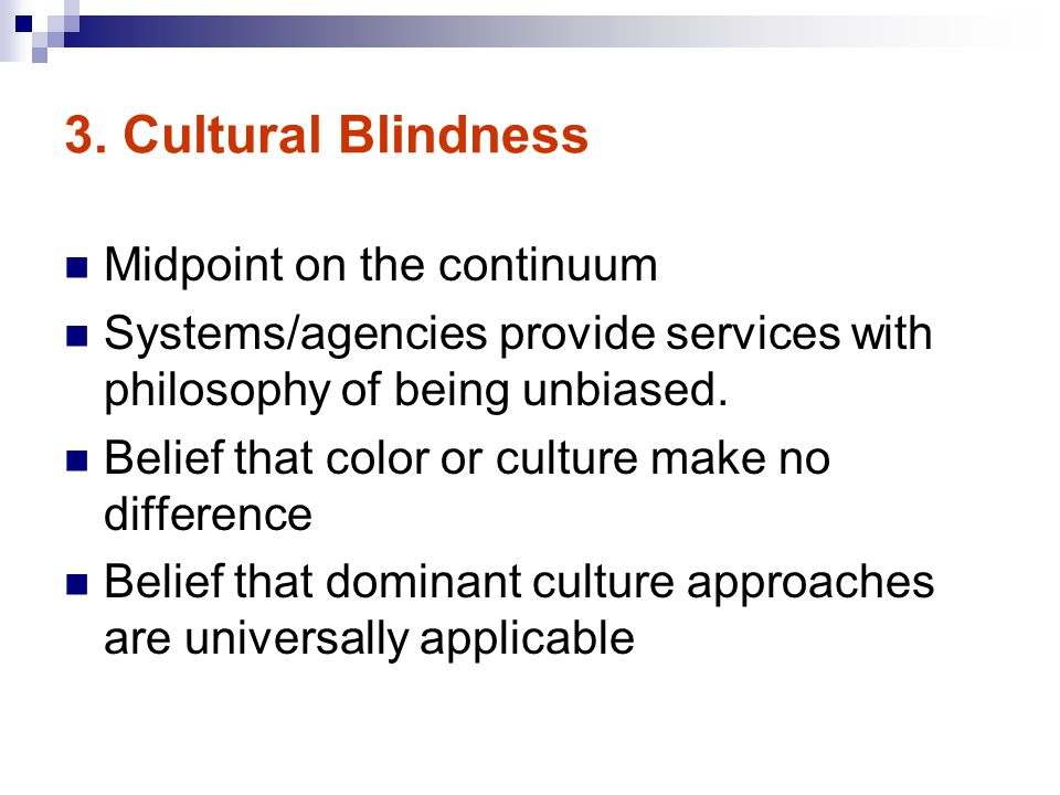 3. Cultural Blindness Midpoint on the continuum