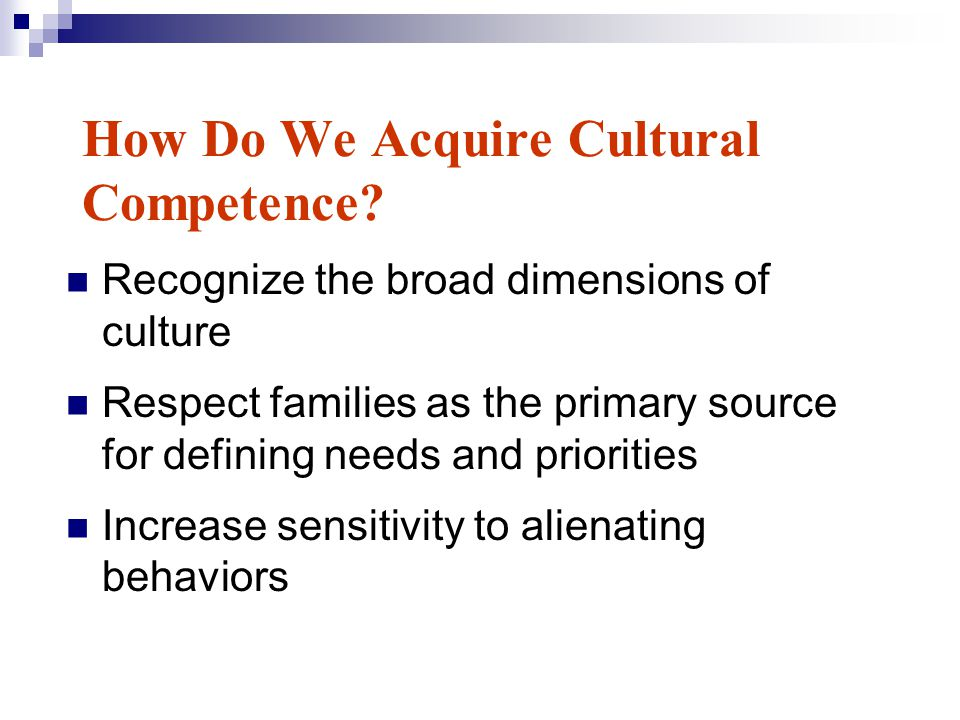 How Do We Acquire Cultural Competence