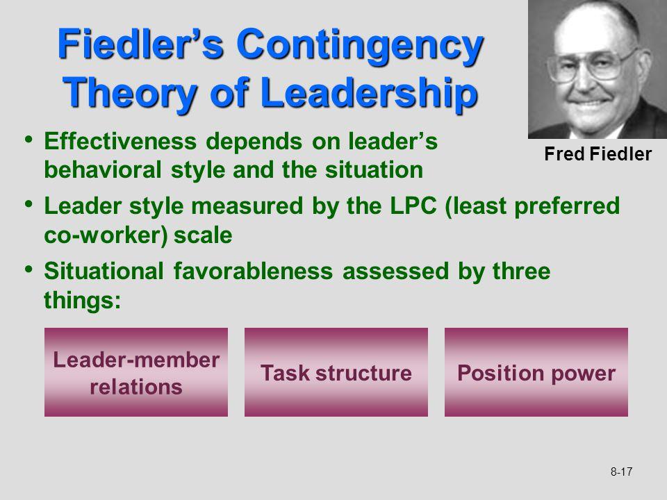 fiedler leadership theory