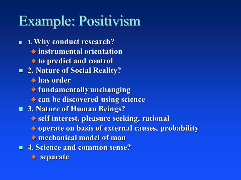 positivism in social research pdf