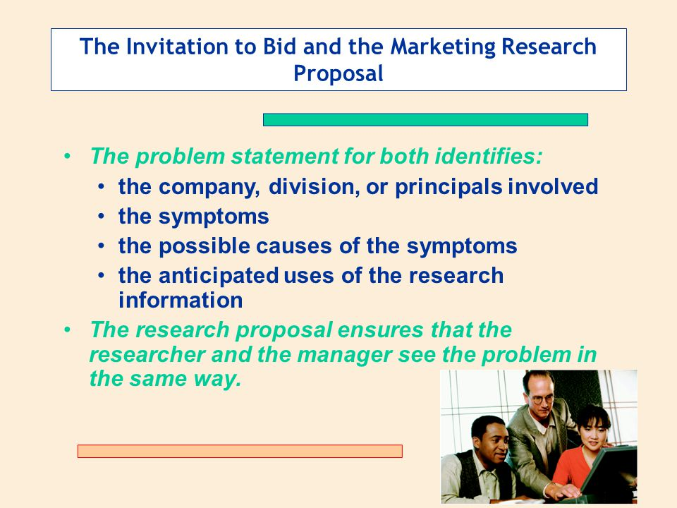 The Invitation to Bid and the Marketing Research Proposal