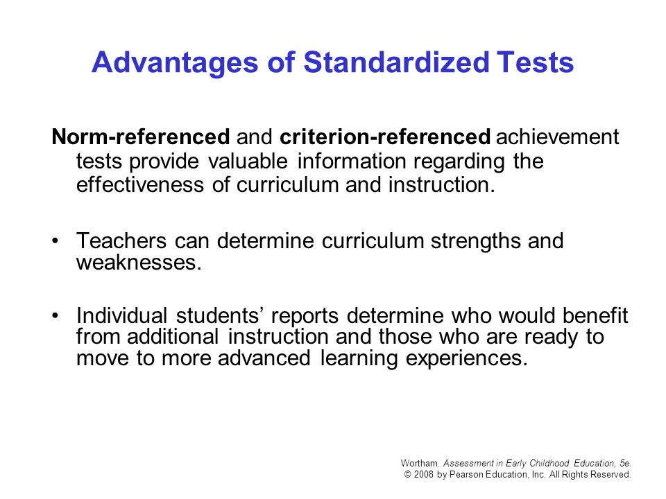 CHAPTER 4 Using And Reporting Standardized Test Results