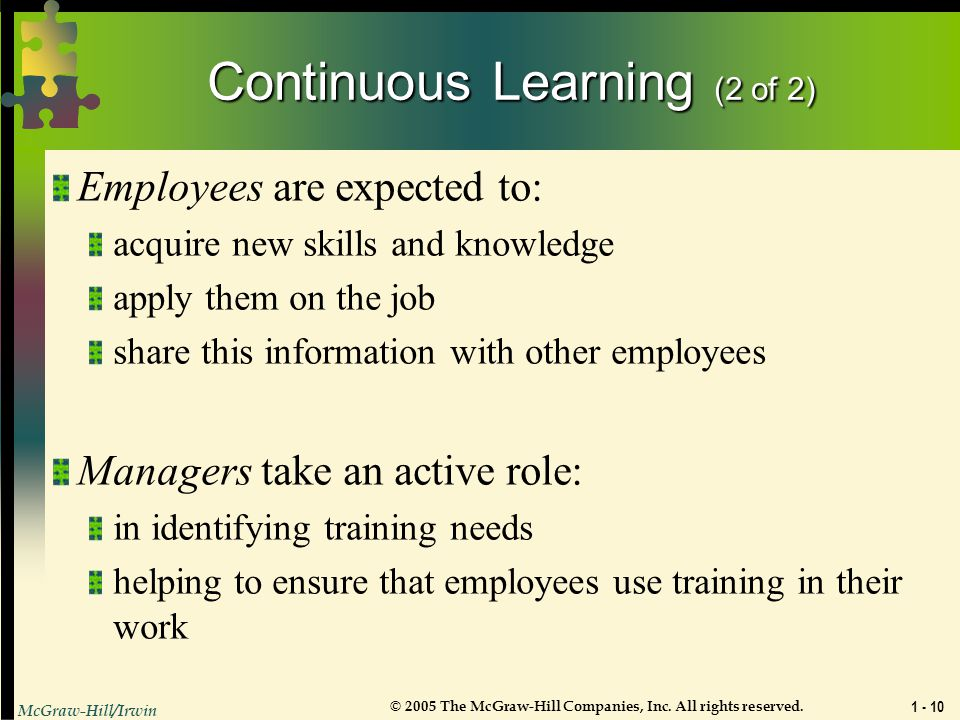 Continuous Learning (2 of 2)
