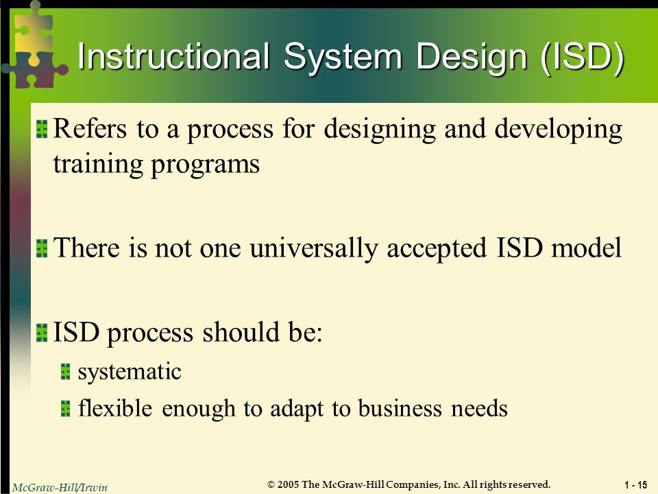 Instructional System Design (ISD)