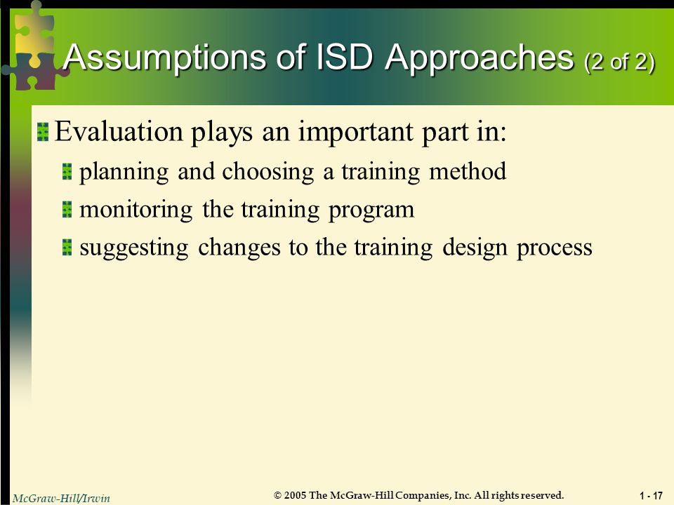Assumptions of ISD Approaches (2 of 2)