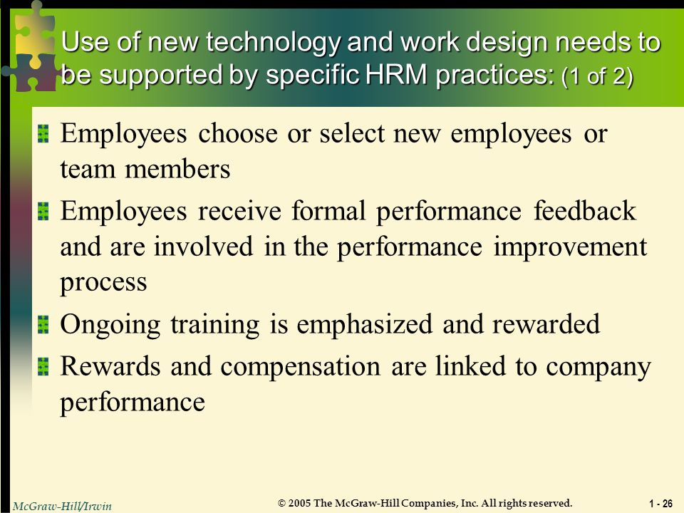 Employees choose or select new employees or team members