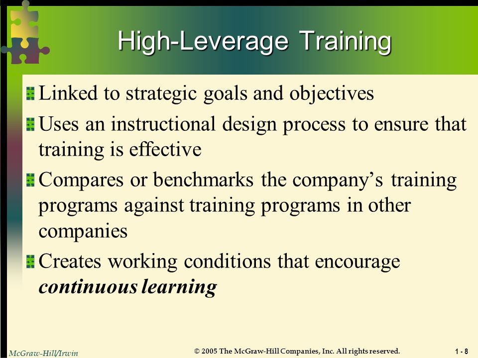 High-Leverage Training