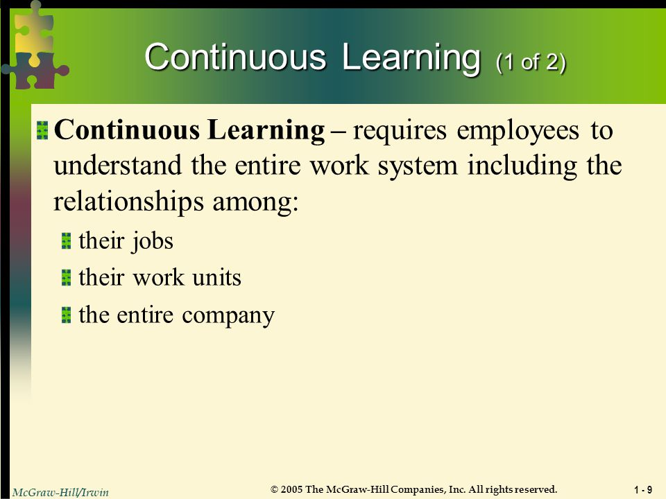 Continuous Learning (1 of 2)