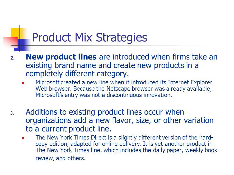 product mix of microsoft