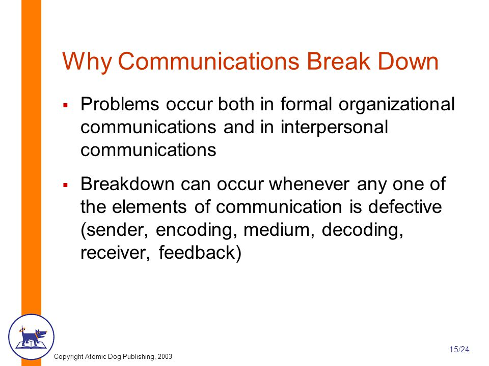Why Communications Break Down