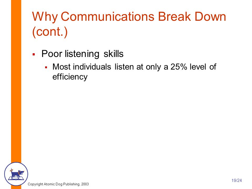 Why Communications Break Down (cont.)