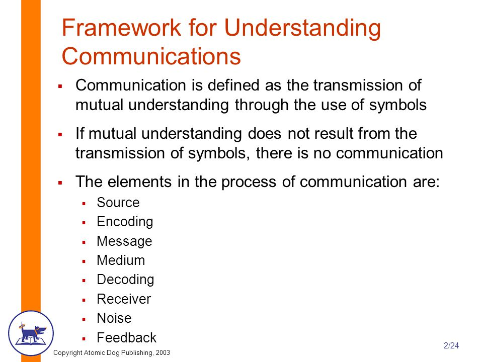 Framework for Understanding Communications