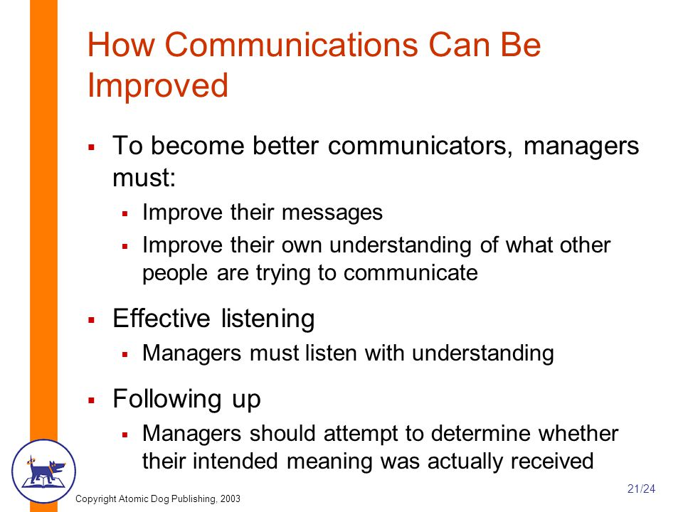 How Communications Can Be Improved