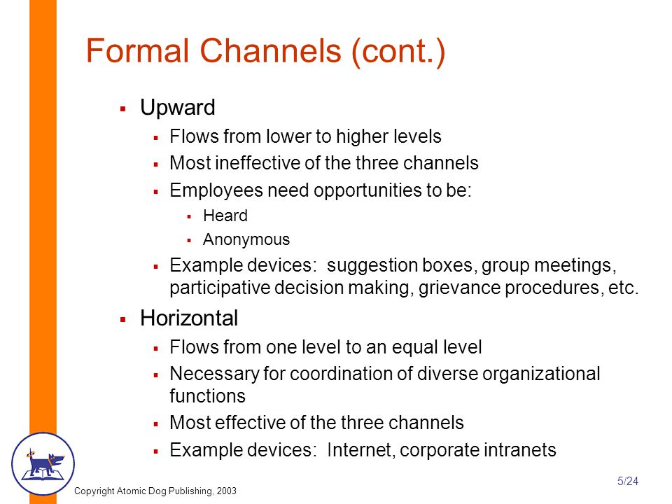 Formal Channels (cont.)