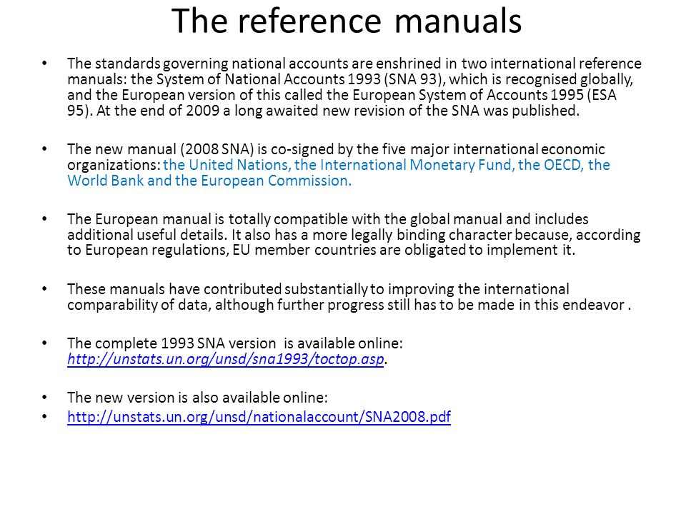 Overview of the 2008 sna and the gfsm update workshop on the.