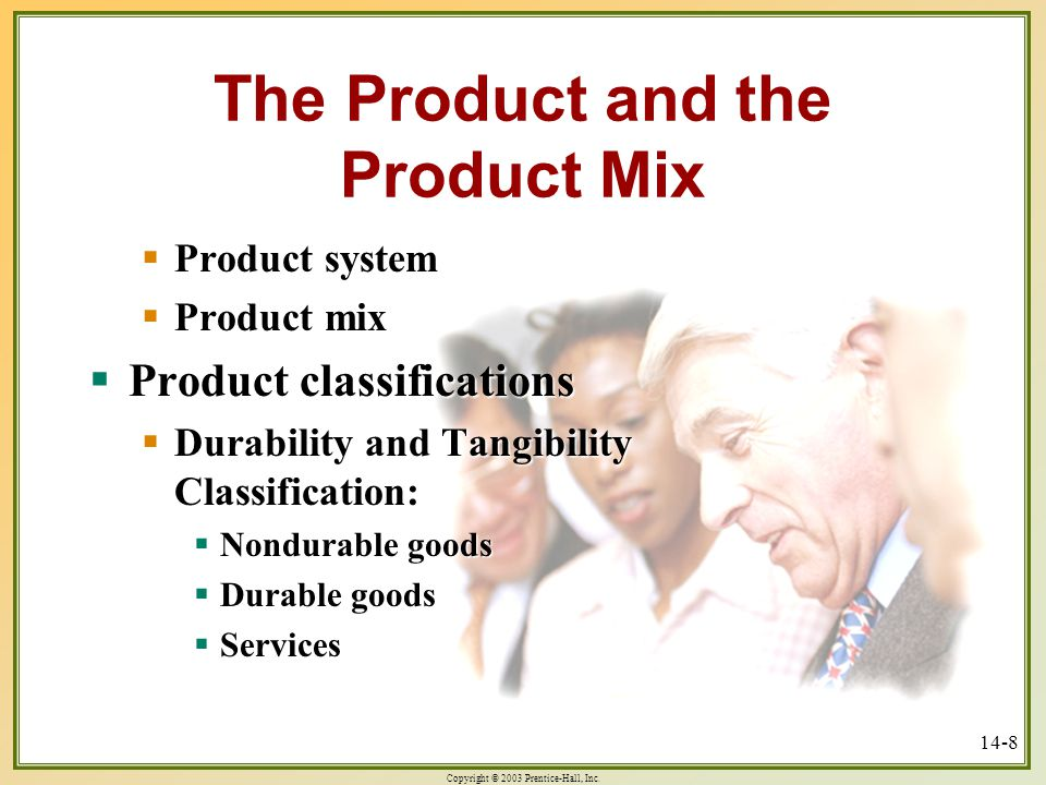 The Product and the Product Mix