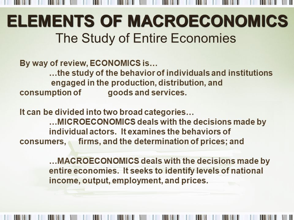 macroeconomics variables