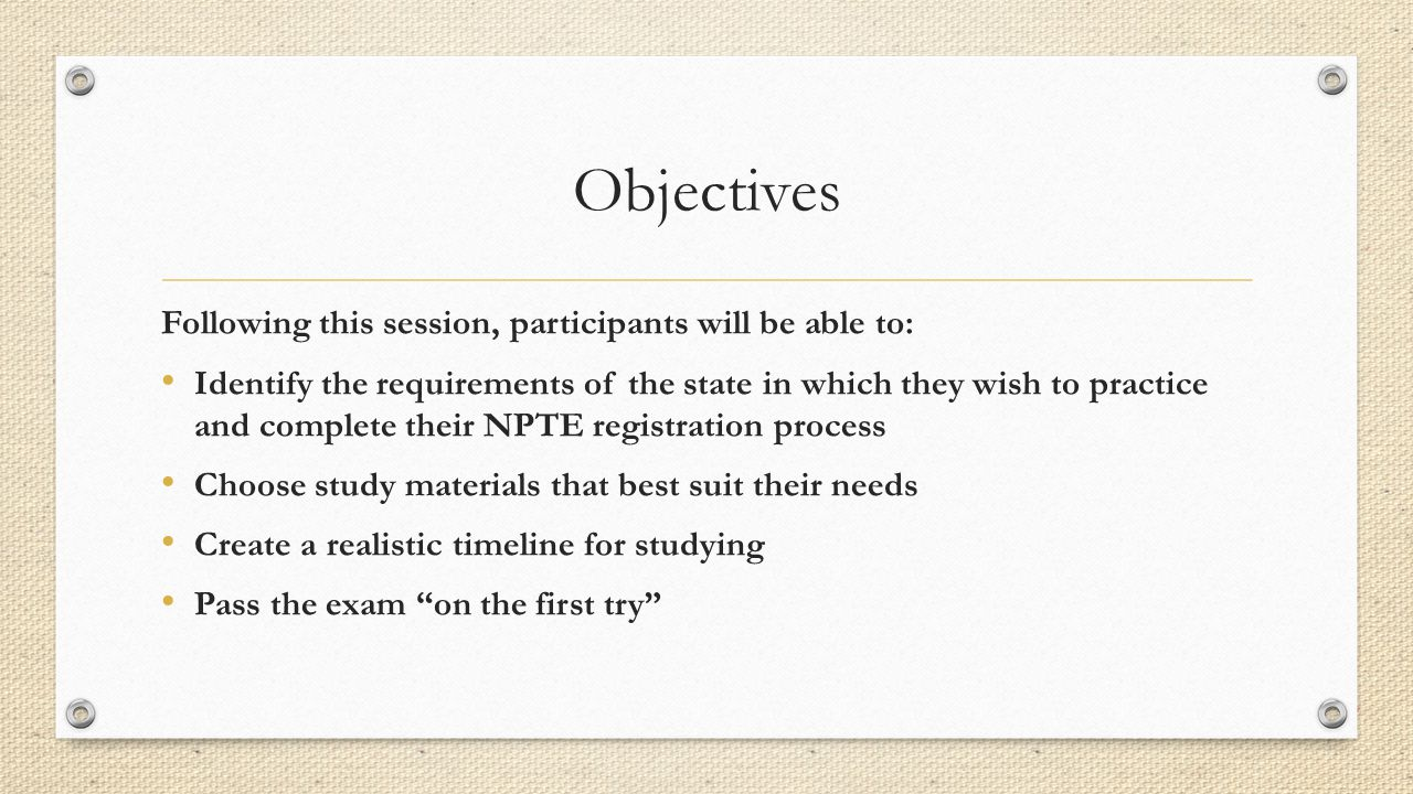 The National Physical Therapy Exam - ppt download