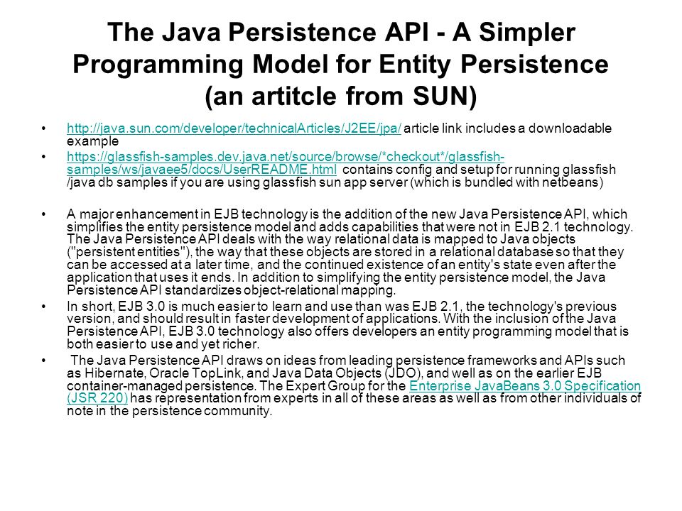 The java persistence API - ppt download