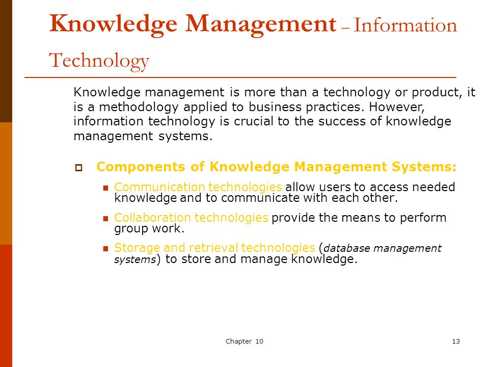 13 Knowledge Management Information Technology
