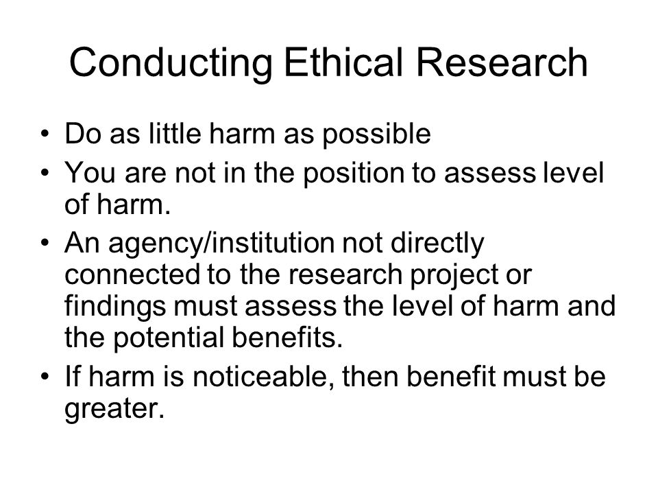 Conducting Ethical Research