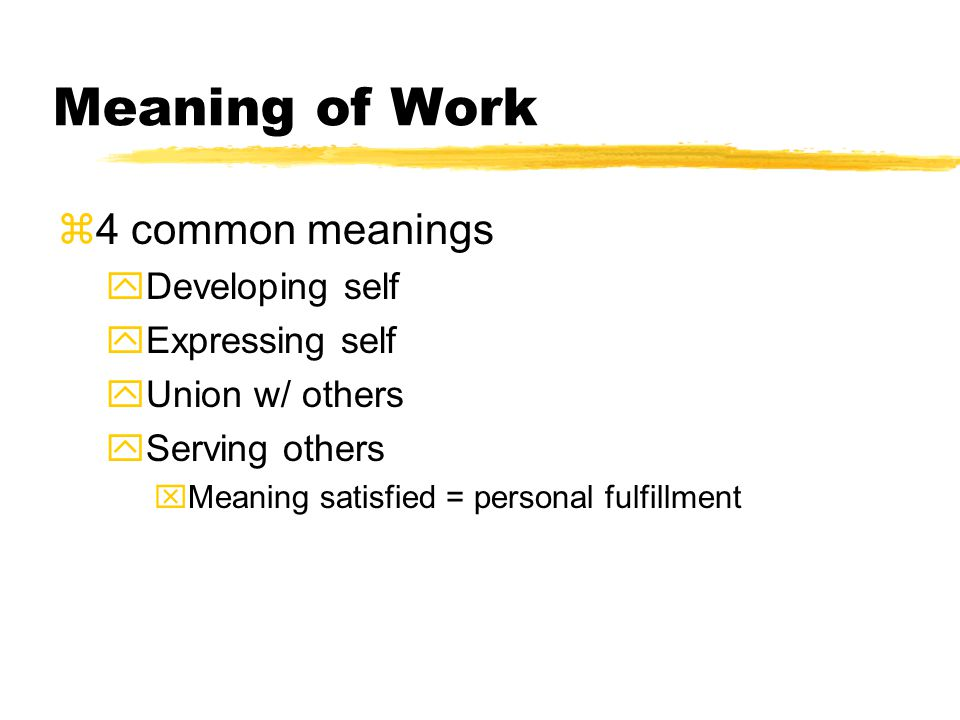 personal fulfillment meaning
