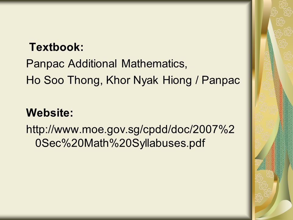 Briefing for Parents Subject Choices at Sec 3 level 29 June ppt download