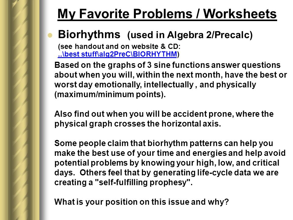 Printable Worksheets patterns and algebra worksheets Making Math Fun by Robert Greenlee Wheaton Warrenville South High ...