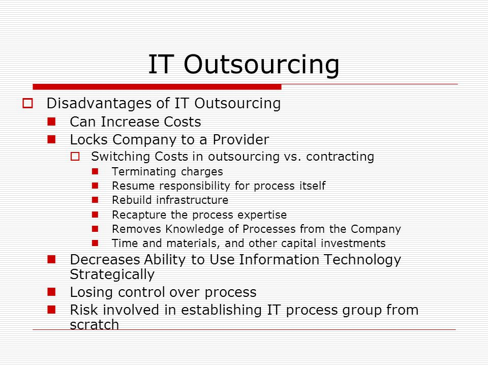 outsourcing at any cost essay However prior to outsourcing any component of your business to a third-party vendor, it is essential to understand the advantages and disadvantages of outsourcing although outsourcing presents a variety of benefits to your organization, it could also pose difficulties if not outsourced to the right service provider.