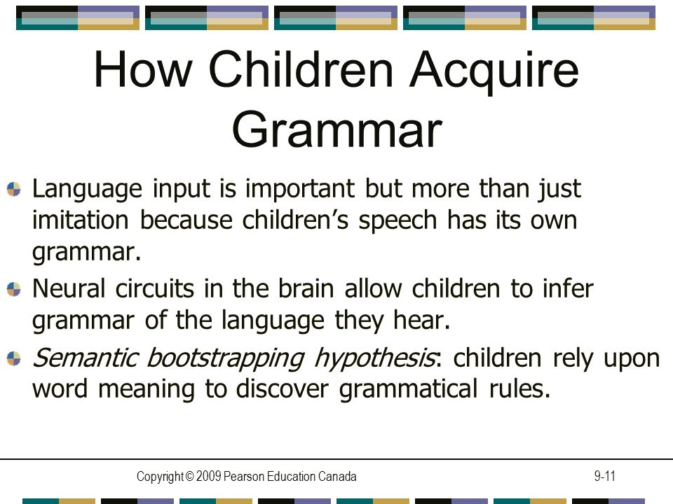 How Children Acquire Grammar
