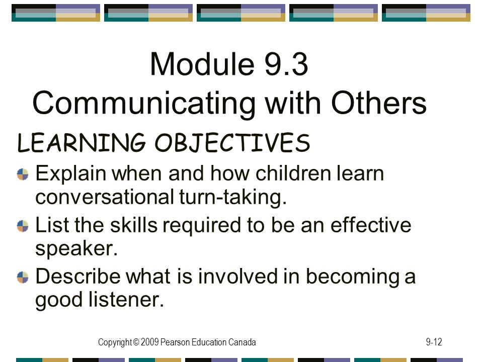 Module 9.3 Communicating with Others