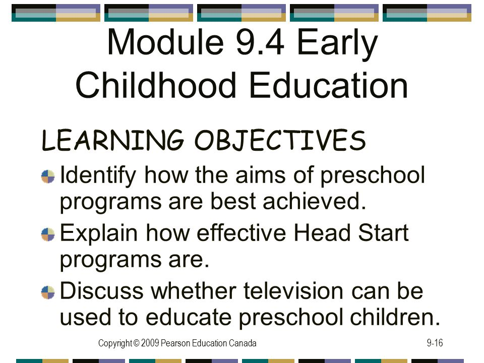 Module 9.4 Early Childhood Education