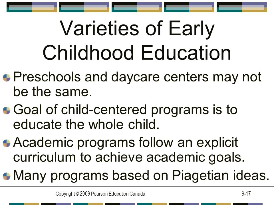 Varieties of Early Childhood Education