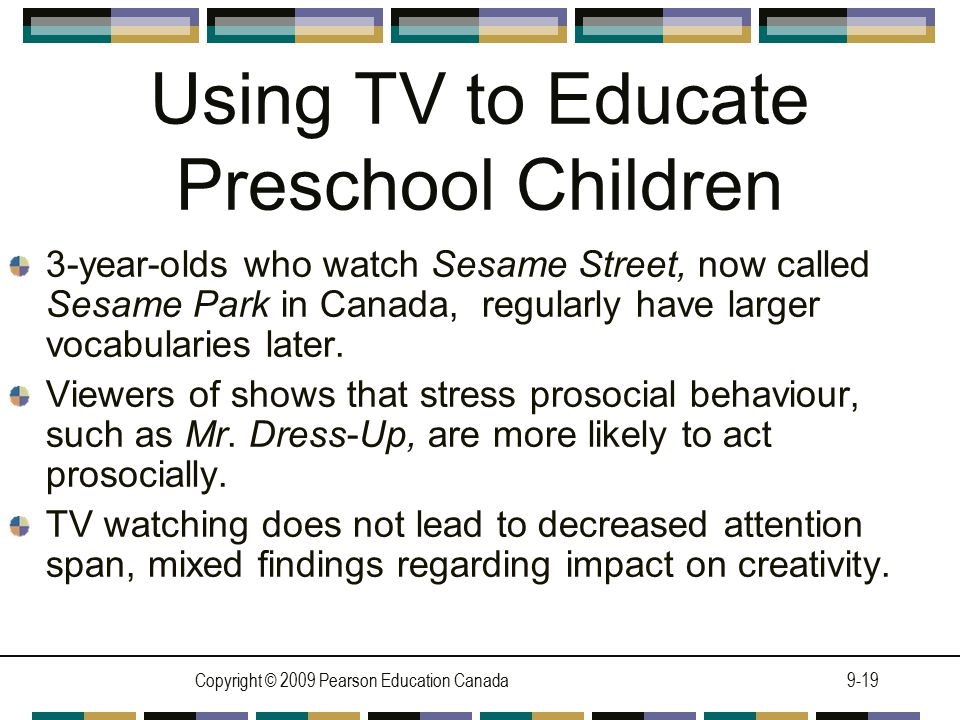 Using TV to Educate Preschool Children