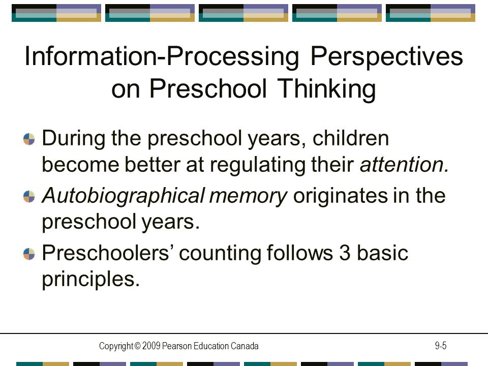 Information-Processing Perspectives on Preschool Thinking