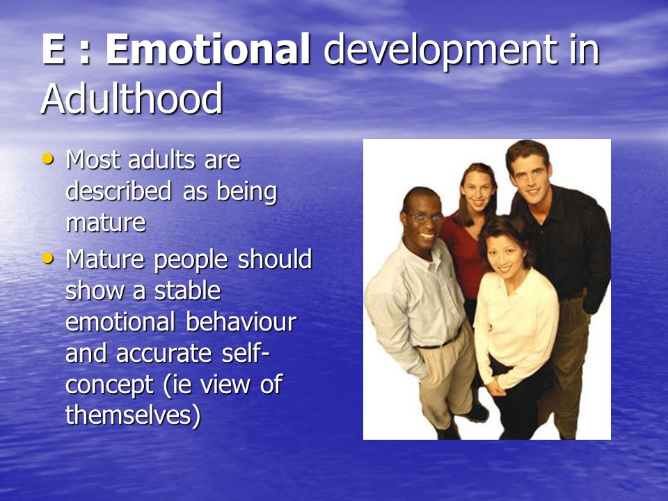 emotional development in adulthood