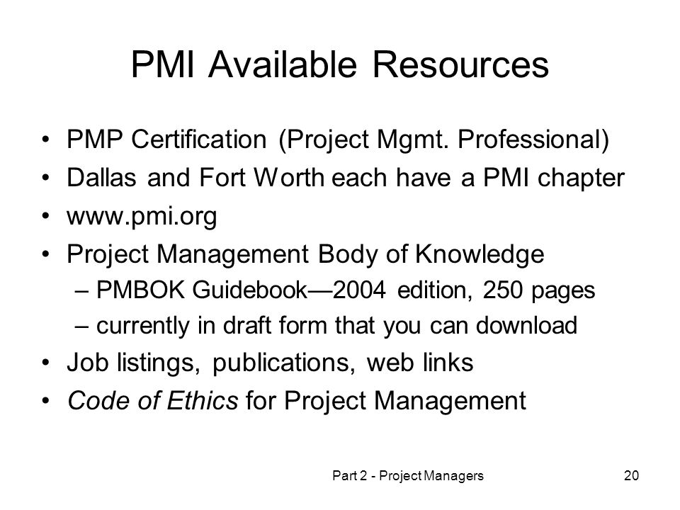 OPMA 5364 Project Management Part 2 Project Managers - ppt download
