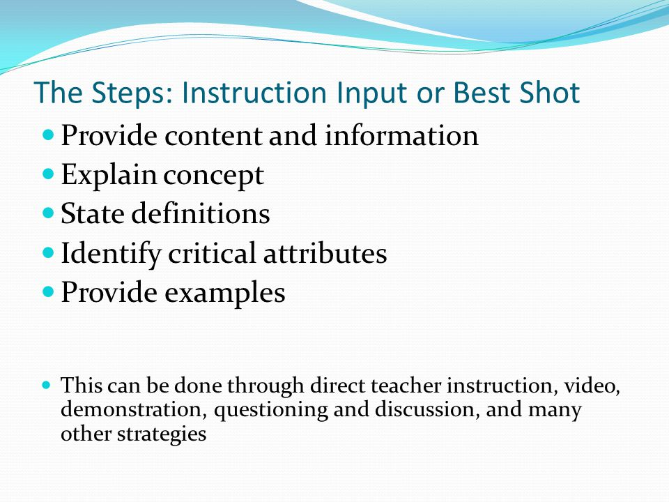 The Steps: Instruction Input or Best Shot