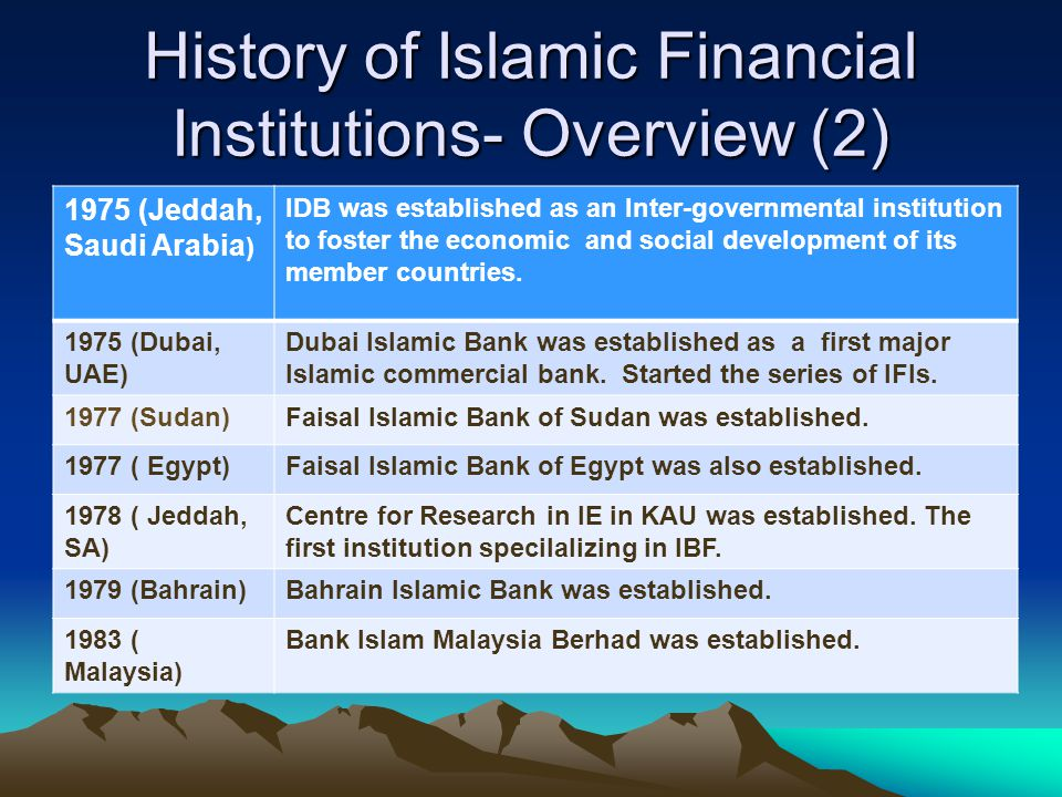 Islamic Banking and Finance: History Development - ppt download