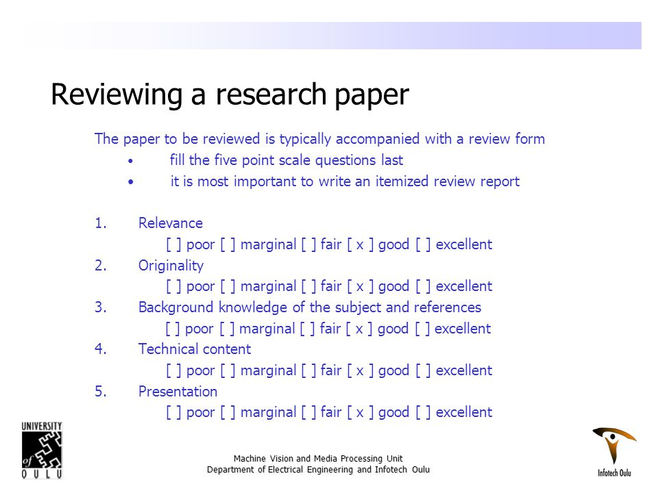 how to write a review paper in engineering
