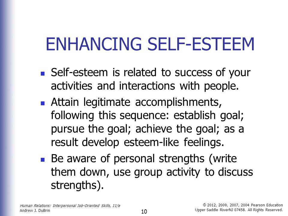 Group self activities confidence Self