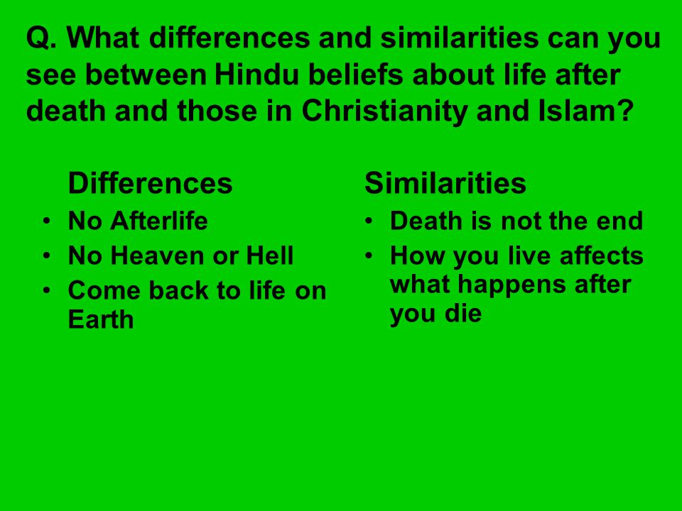 similarities between hinduism and christianity