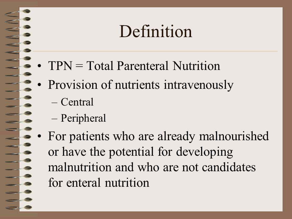 Total Parenteral Nutrition Cartoon Nutritionwalls
