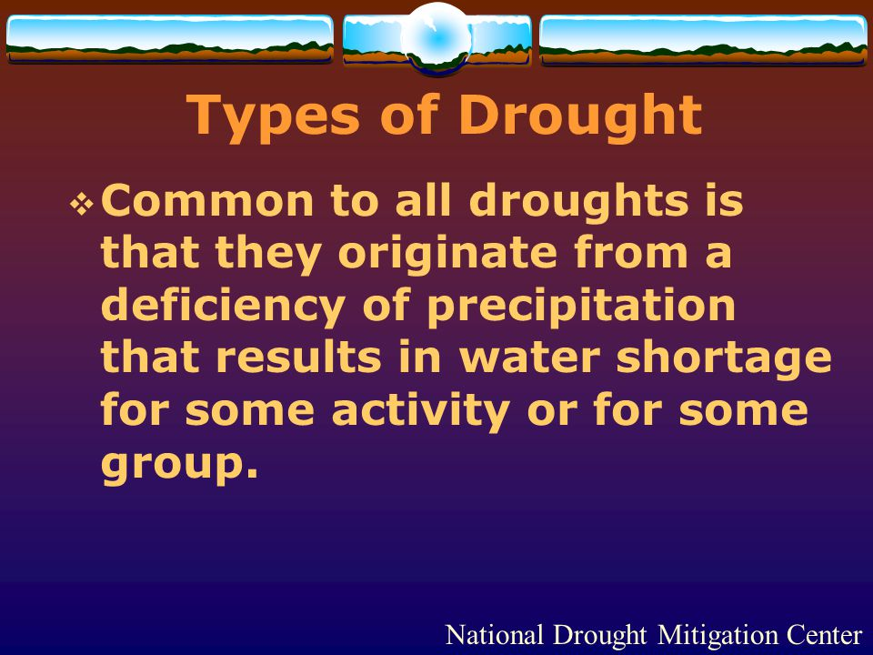 Types of Drought